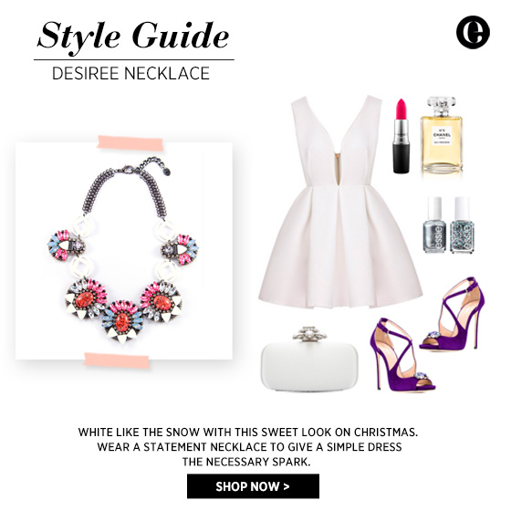 Style Guide - Statement Necklace for Christmas Eve