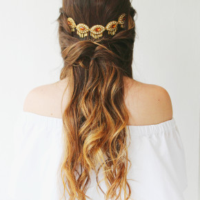 3 Bohemian Hairstyles you can do with Necklace